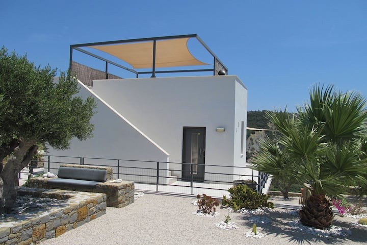 Villa in Foinikounta with Roof Terrace, Garden and Deckchair