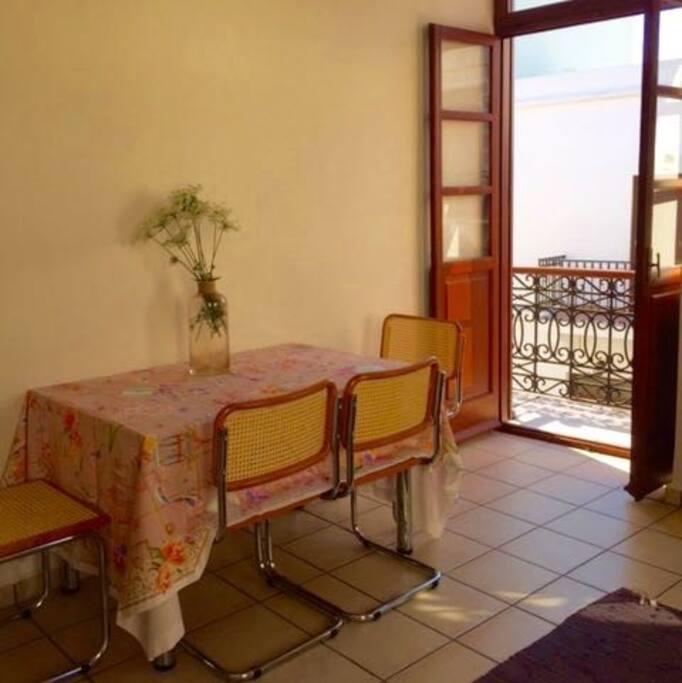 Dining area, balcony