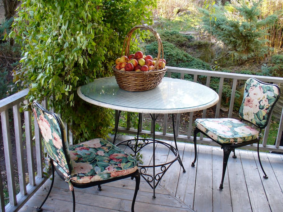 Porch delights and dining.