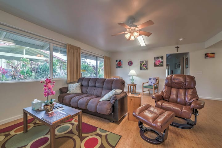 Updated Home w/Screened-In Porch 5 Mi. to Hilo Bay
