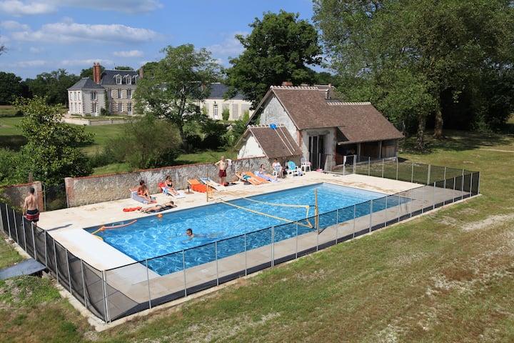Superbe chateau  en Sologne   piscine/tennis