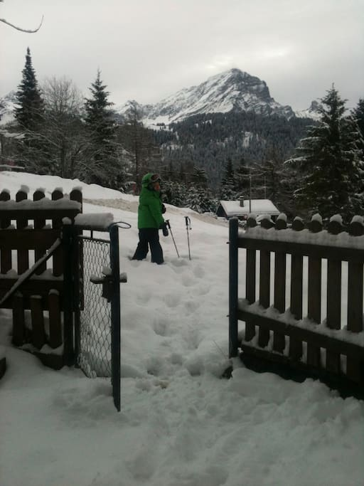 Outside the chalet