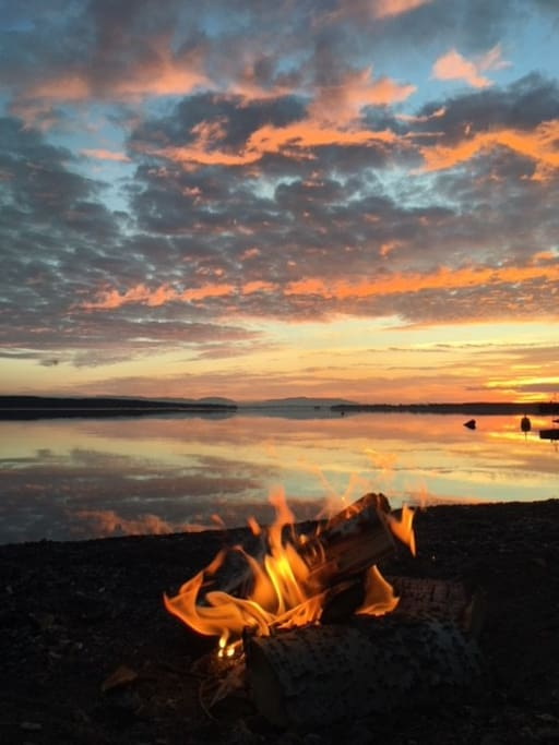 Making a fire on the beach is the kind of luxury we offer.