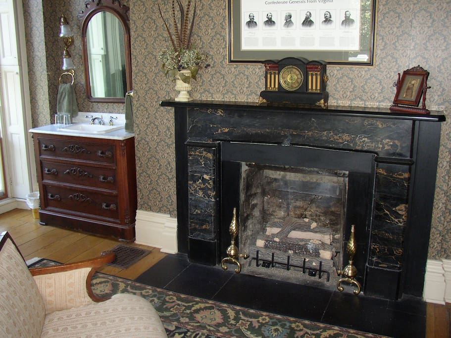 Gas Fireplace in Generals Room