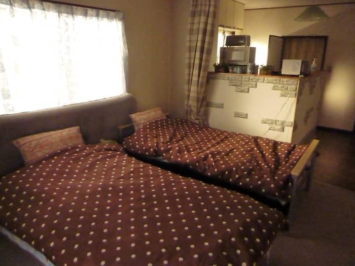 二見テラス 伊勢神宮 夫婦岩 駅に近い 45平米の広い部屋A、お二人で、女子会旅に!無料駐車場あり