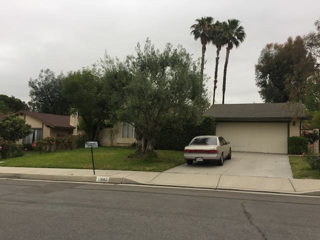 The house comes with driveway parking (street parking is an option as well, and the neighborhood is very safe), 4 bedrooms and 2 full bathrooms.