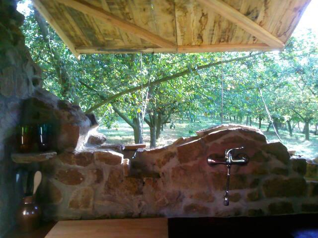 Cabane dans les arbres/ ferme bio - Jatxou - Chalet