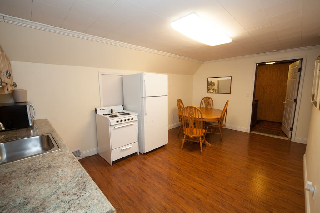 Fairly large eat in kitchen
