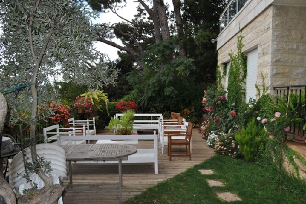 Front garden overlooking the city of Beirut