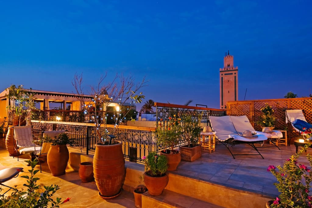 Roof terrace at the riad