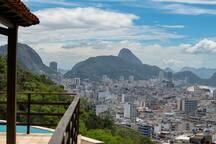 o olhar para Copacabana e o Pāo d' Açucar