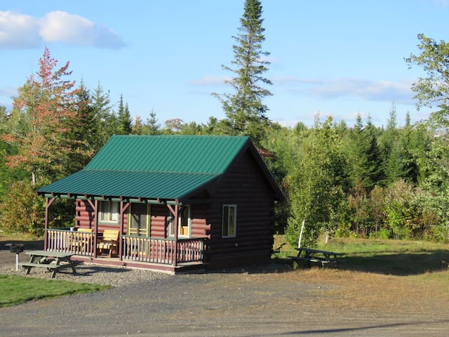 1. Cozy cabin,  pond view, sleeps 5, big sky.