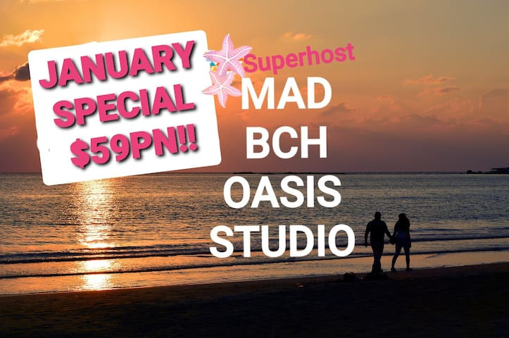 Mad Bch Oasis Studio*JAN SPECIAL*$59PN !!
