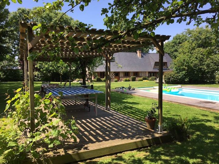 Grand cottage 8 pers - Parc paysagé avec piscine