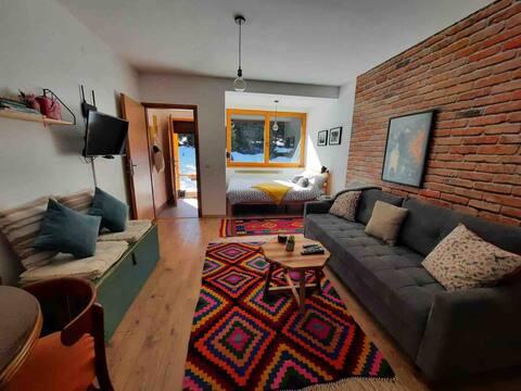 Apartamento Silueta - Estudio cálido y acogedor