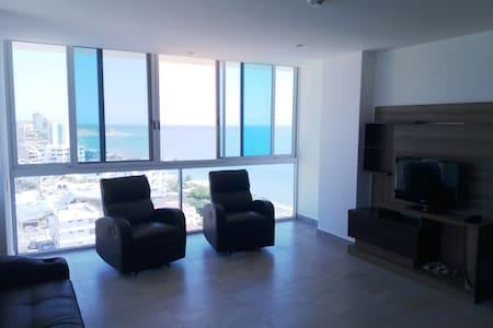 Hermosa vista, acogedor depto cerca de la playa - Portoviejo - Appartement