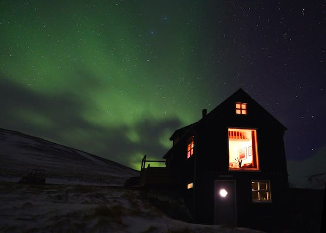 Your House ist sooooo beautiful and set in a magical location. We really enjoyed second we were there. Over these past few days winter has returned to kolsstadir which makes it almost glow :-) Last Night the weather cleared up and we had a sky full of dia