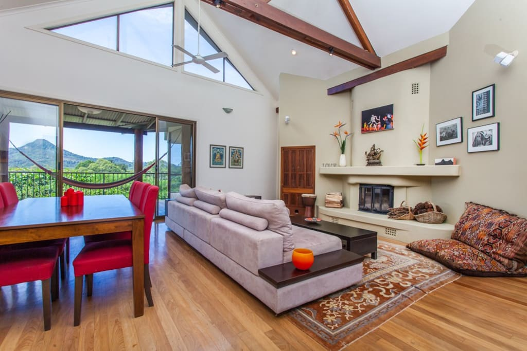 Open plan living with great natural light