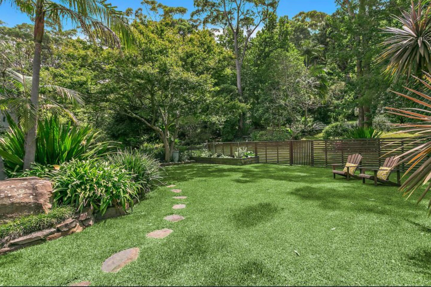 Large fenced yard with vege garden you can help yourself to