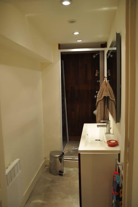 Agrémentée d'une salle de douche indépendante