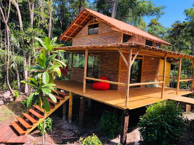 Bambu chalé Flor da Vida, leveza e conforto