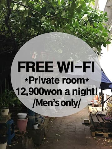 [Men's only] private room 12,900won a night#1