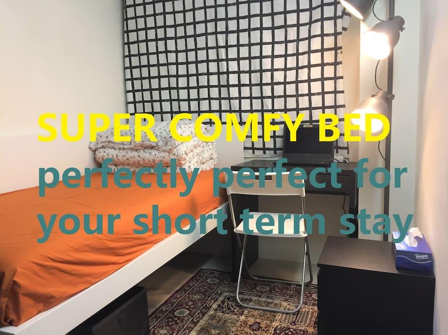 super comfy single bed