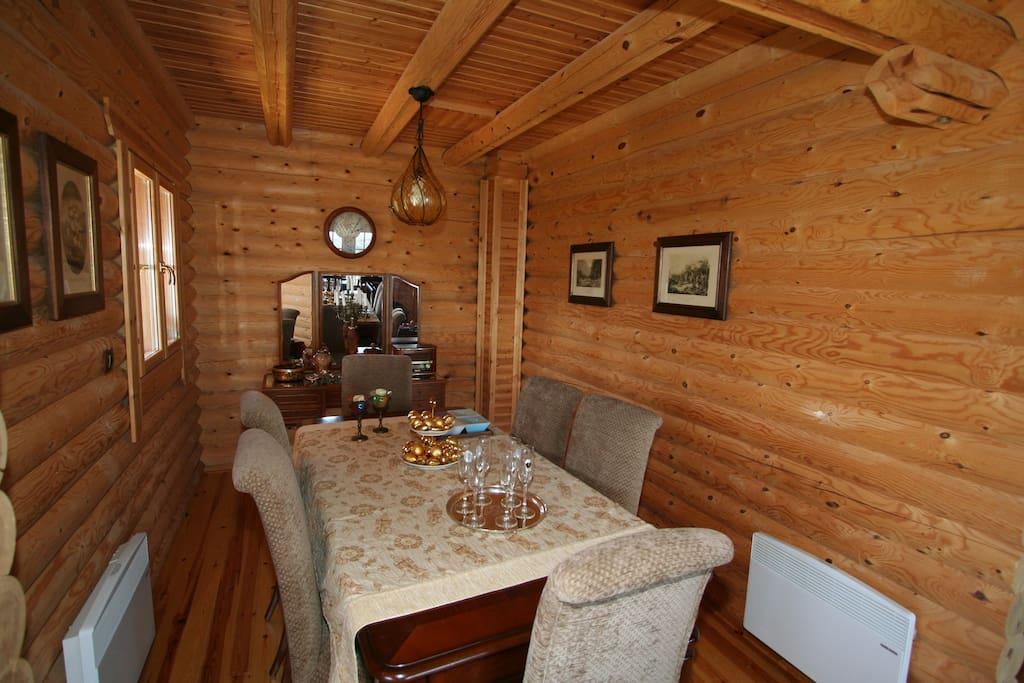 Olive dining room