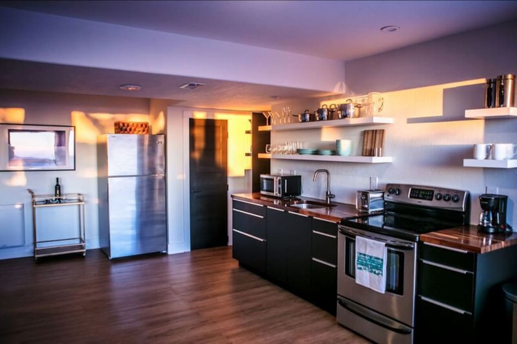 Full size refrigerator and oven