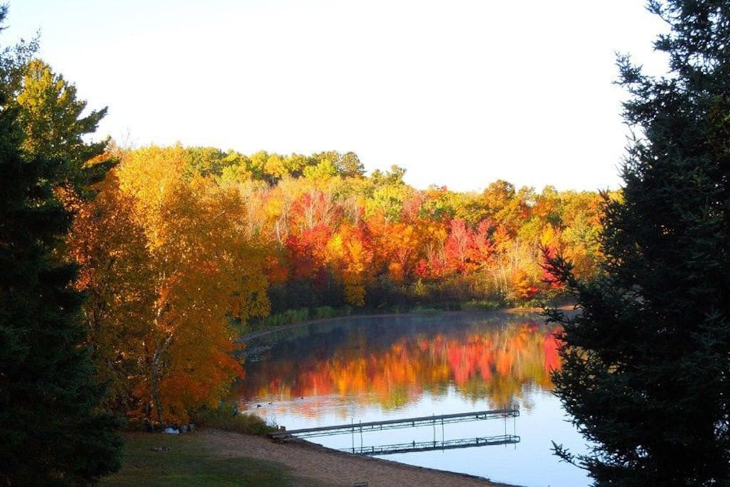 View from the cabin in fall