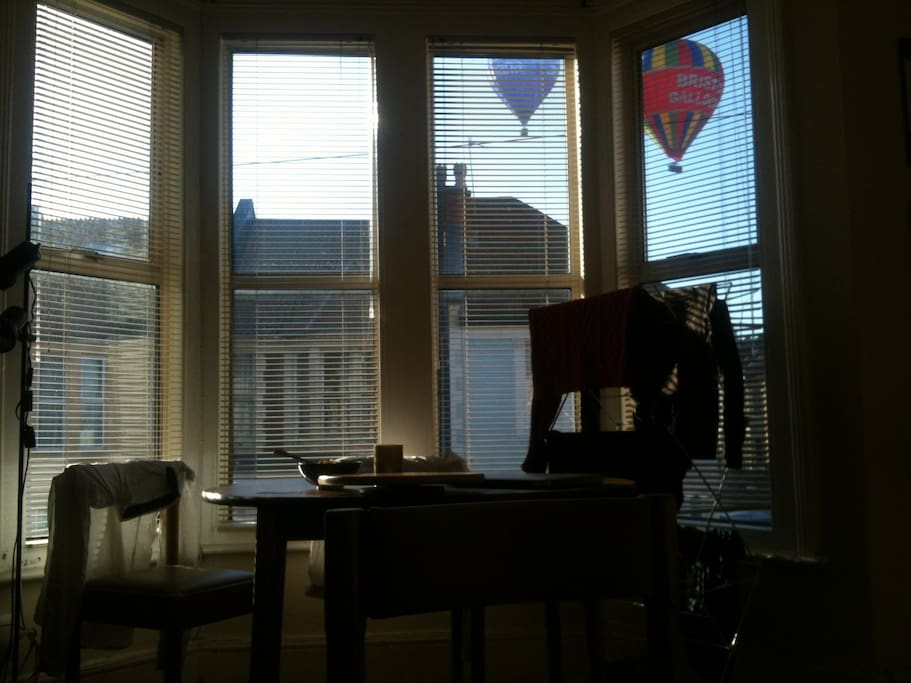 Bristol is famous for it's hot air balloons which sometimes pass by our window.