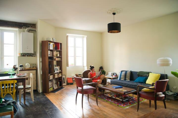Bel appartement esprit Loft dans le centre-ville - Nantes - Apartament