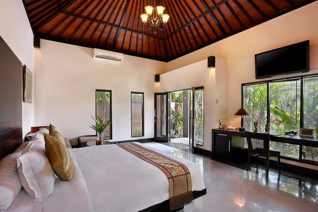 Bed Room equipped with Flat TV plus Satellite TV Channels, DVD Player & Free Wi-Fi