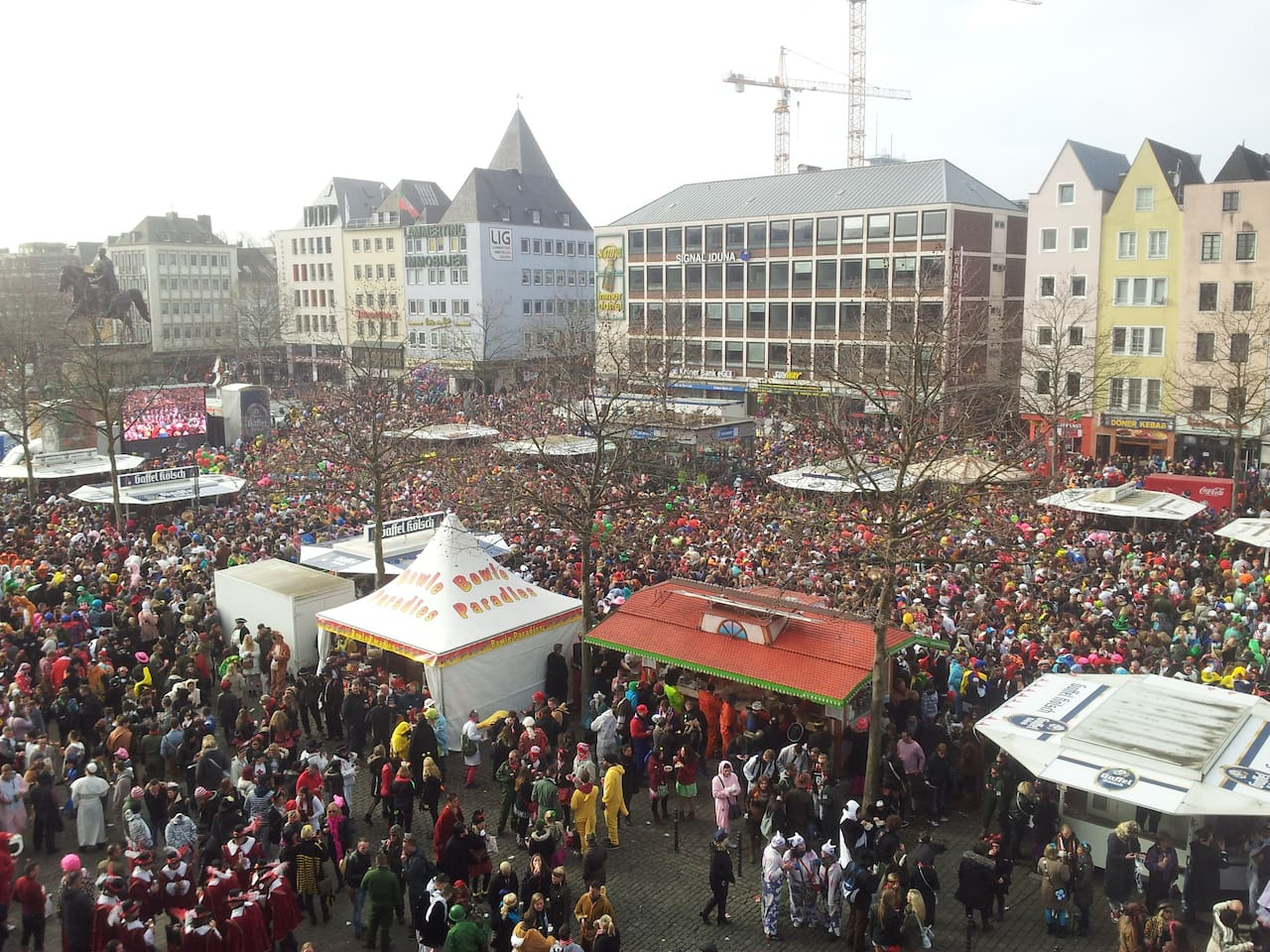 View from the window at Carnival