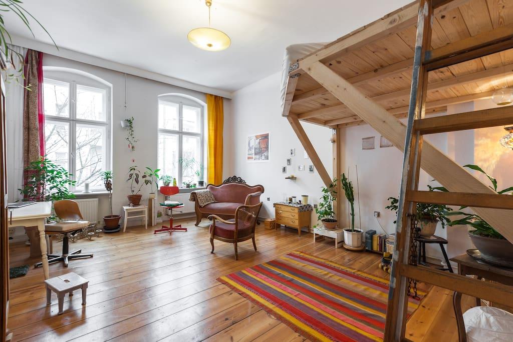 gro es helles wg zimmer im altbau wohnungen zur miete in berlin berlin deutschland. Black Bedroom Furniture Sets. Home Design Ideas