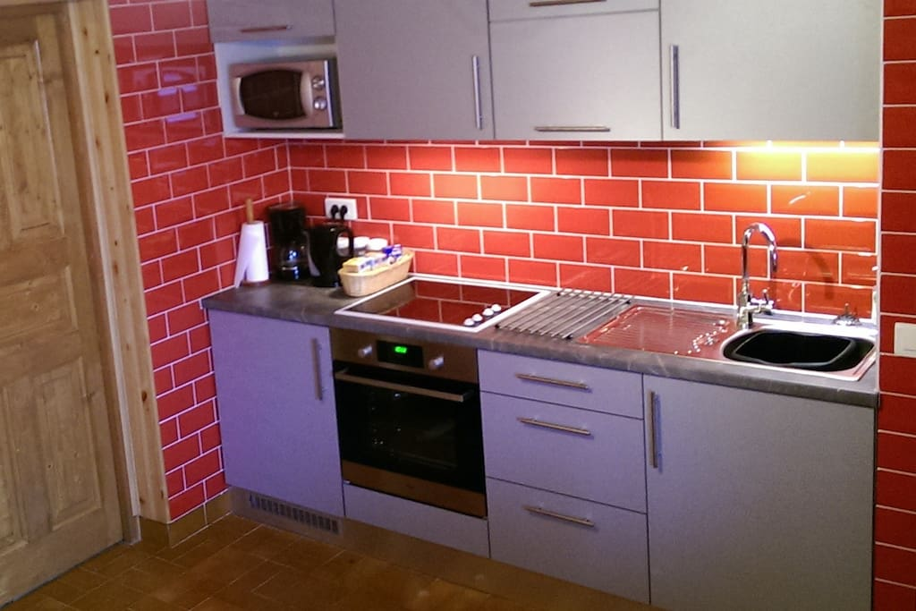 Newly fitted kitchen area