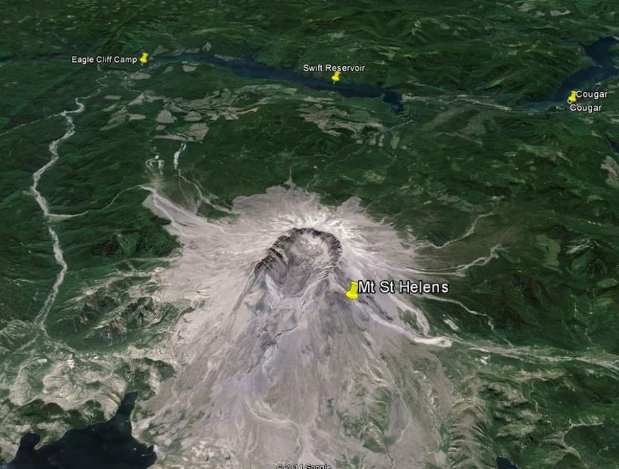 Because Mt. St. Helens erupted out the North Side in 1980, Eagle Cliff Camp, located on the Southeast side of the mountain was spared.