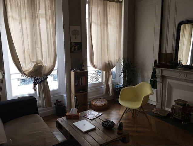 Chambre dans bel appartement en Presqu'île - Lyon - Leilighet