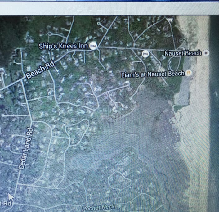 Home is located at arrow in the bottom left corner of photo.  15-20 minute walk to world famous Nauset Beach
