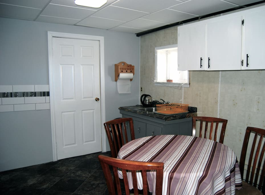 Guest kitchen and dining room.