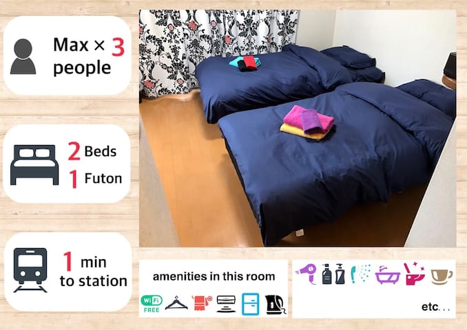 Only5mins walk from JR Motomachi St! - 神戸市 - Apartment