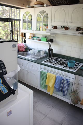 Fully equipped kitchen with wonderful view