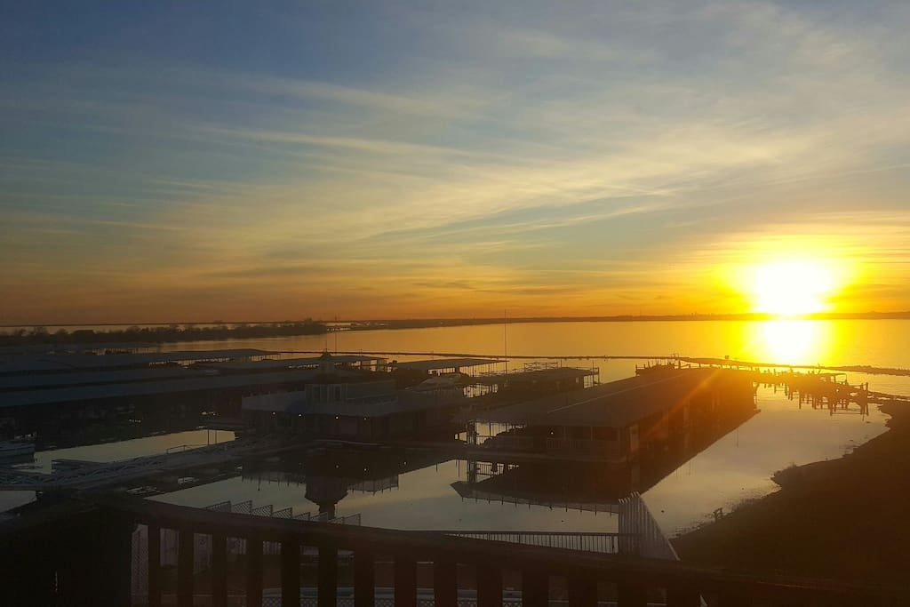 sunset from 2nd floor balcony