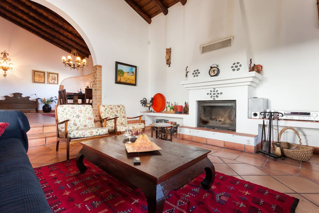 Living-Room with main fireplace
