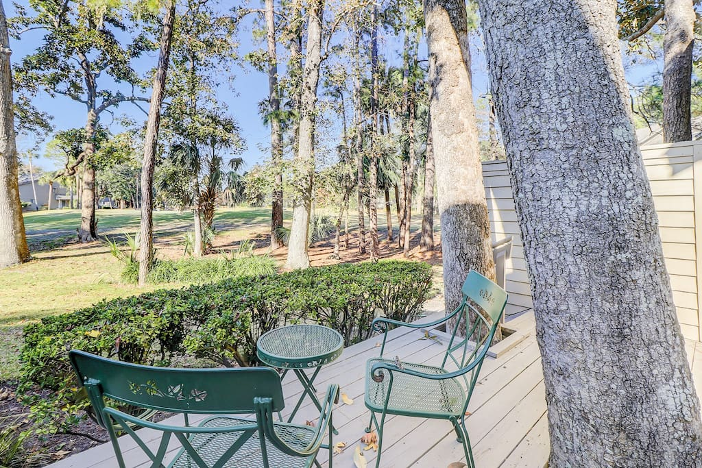 Tranquil setting overlooking the golf course. This home is professionally managed by TurnKey Vacation Rentals.