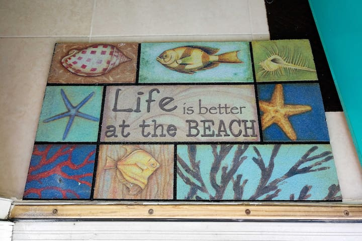 You'll find beach decor throughout the home!