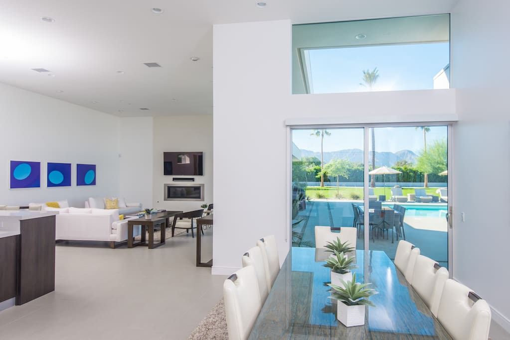 Dining Room with Pool Views