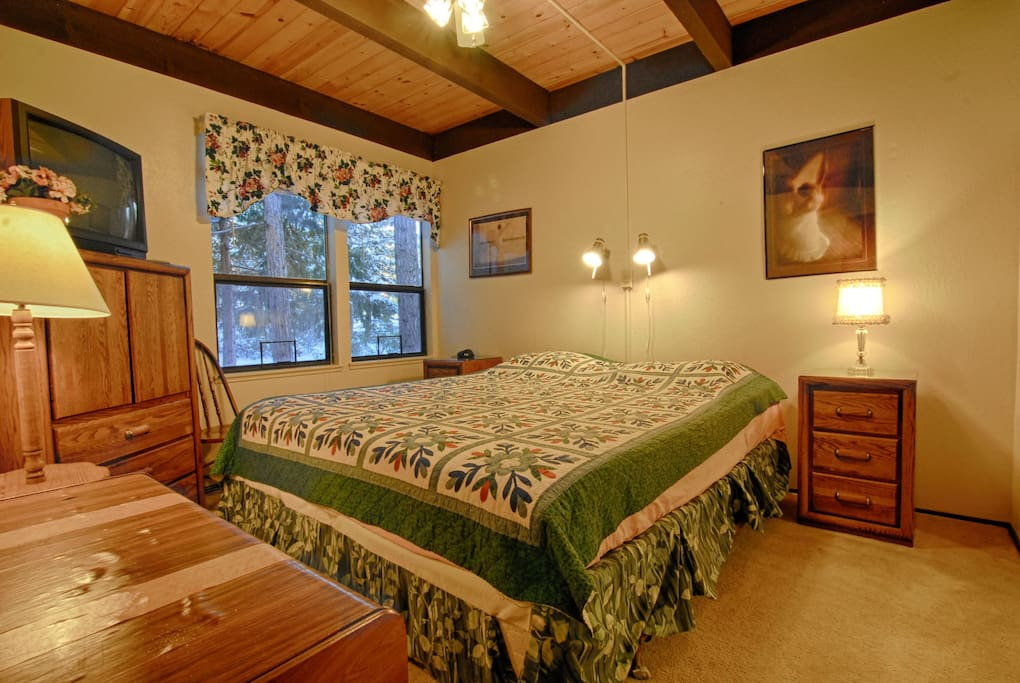 Bedroom #1: King Bed on first floor