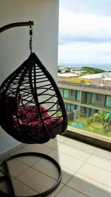 Balcony swing to enjoy the view