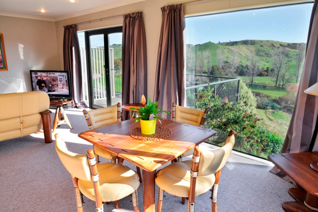 Dining area with magnificent views.